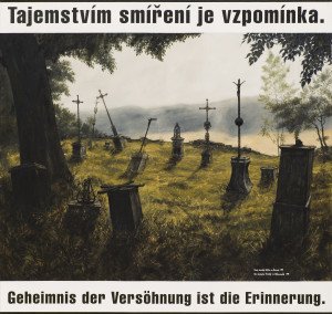 Když jsem v našem jihozápadním pohraničí hledal zaniklé německé vesnice, nacházel jsem často jen zničené zbytky hřbitovů nebo ovocné stromy uprostřed lesů, poslední svědky několikasetletého života neznámých generací našich předků, lidí, kteří žili před námi v naší zemi. Snad i našich přímých předků, kdo může s jistotou říci, že se v jeho rodu nevyskytoval žádný Čech německé nebo židovské národnosti? Tento hřbitov v Pohoří na Šumavě je nově opravený vyhnanými původními obyvateli. Zbylých šest jednopatrových domů ve městě bylo zrovna v době mé přítomnosti demolováno buldozerem.