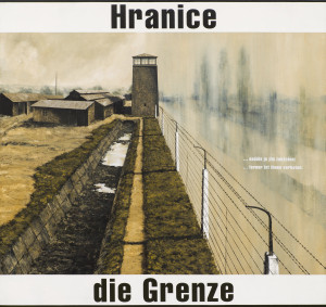 Jako motiv jsem zvolil úsek elektrického oplocení z Dachau s několika baráky, ale to není podstatné. Zde je to jakýkoliv tábor, třeba jeden z těch, kde bylo internováno německé obyvatelstvo. A třeba je to i stát, který vždy nějakým způsobem omezuje, třeba i pouhý předsudek, který nás determinuje. Široká plocha krajiny je přeťata snadno odstranitelnými zábranami a zákazy, které omezují internované osoby natolik, že okolní svět je setřený, mizí, zůstávají jen omezené možnosti uvnitř hranic. Často záleží jen na nás, jestli na to přistoupíme. Je to obraz o hranicích kolem nás, ale hlavně v nás, o těch, které jsme akceptovali.