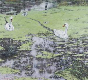 """""""Bacha!"""" (vodník) 2013, olej, plátno, 100x90 cm (soukromá sbírka)"""