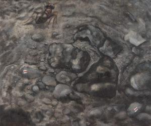 """""""Na cestě"""" 2012, olej, plátno, 90x75 cm"""