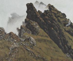 """""""Drachenstein – Dračí kameny"""" 2012, olej, plátno, 90x75 cm"""