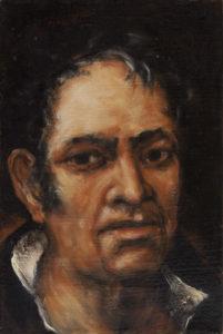 """""""Goya"""" 2002, olej, plátno, 30x20 cm"""