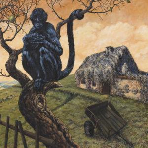 """""""Kocovina I."""" 2014, akryl, olej, plátno, 100x100 cm"""