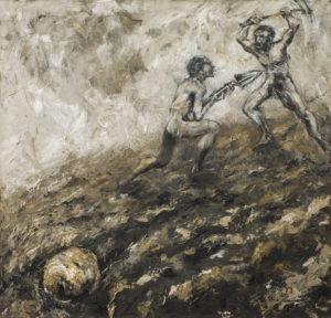 """""""Brambor"""" 1997, olej, plátno, 90x85 cm"""
