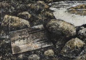 """""""Lístek polní pošty"""" 2004, olej, plátno, 35x24 cm"""