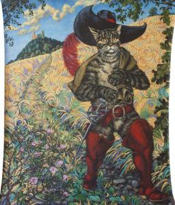 """""""A zase do světa!"""" (velká varianta) 2016, akryl, plátno, 127x158cm (výzdoba MŠ a ZŠ Uhelná Příbram)"""